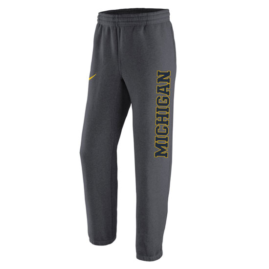 Nike University of Michigan Anthracite Stadium Club Fleece Sweatpants