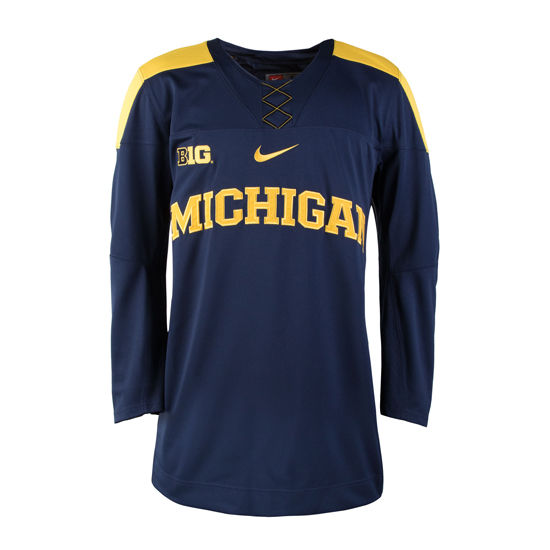 Nike University of Michigan Hockey Navy Replica Jersey