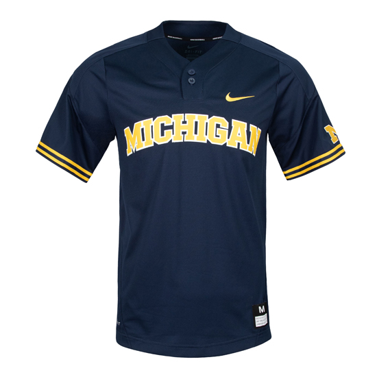 Nike University of Michigan Baseball Navy Replica Jersey