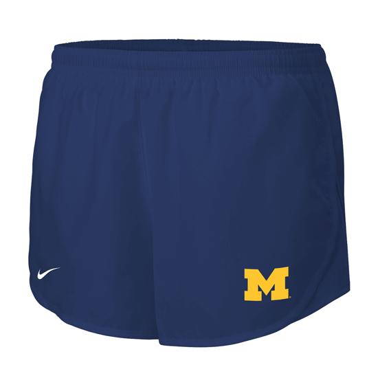 Nike University of Michigan Women's Navy Tempo Dri-FIT Running Shorts