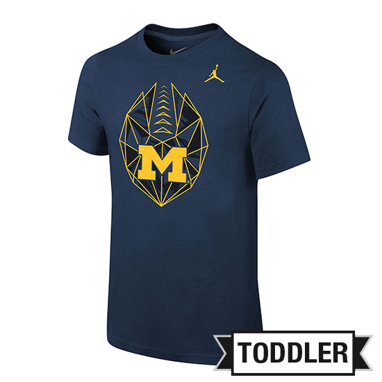 Jordan University of Michigan Football Toddler Navy Icon Tee