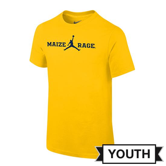 Jordan University of Michigan Basketball Youth Maize Rage Tee