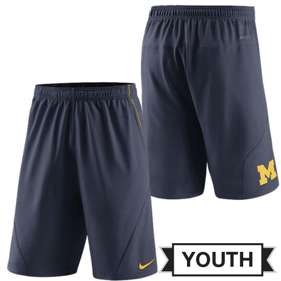 Nike University of Michigan Youth Navy FLY XL 5.0 Dri-FIT Shorts