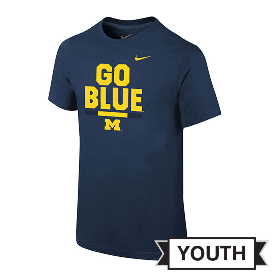 Nike University of Michigan Football Youth Navy Local Verbiage DNA Tee