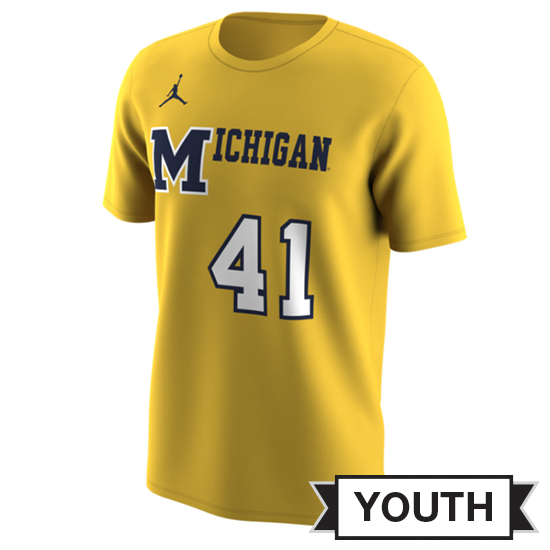 Jordan University of Michigan Basketball Youth Maize 1989 Throwback Jersey Tee