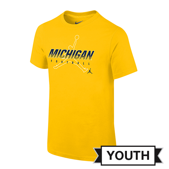 Jordan University of Michigan Football Youth Maize Facility Tee
