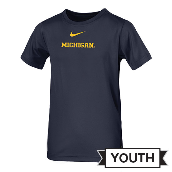 Nike University of Michigan Football Youth Navy Dri-FIT Legend Coaches Tee