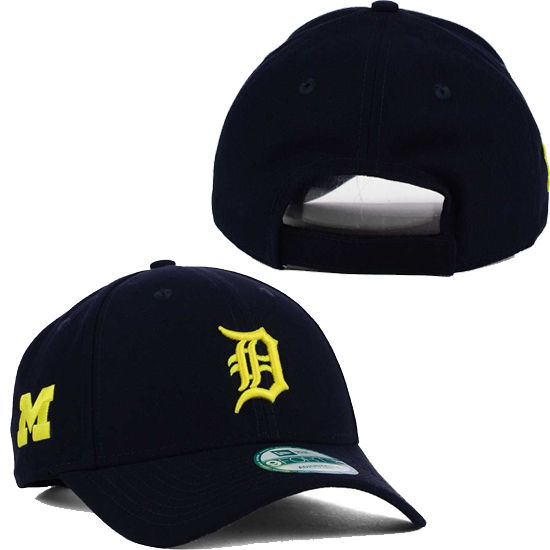 8a4680bf4b9 New Era University of Michigan   Detroit Tigers 9Forty Adjustable Hat