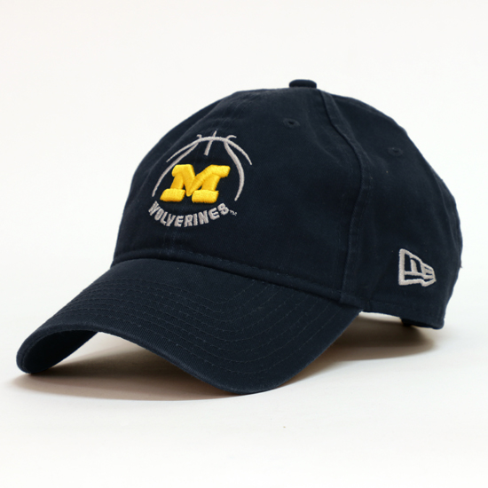 New Era University of Michigan Basketball Navy 9Twenty Slouch Hat