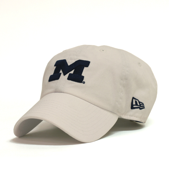 New Era University of Michigan White Casual Classic Slouch Hat