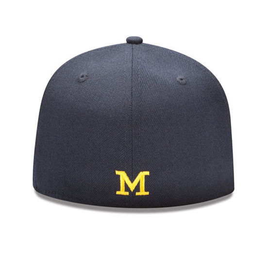 New Era University of Michigan 59Fifty Navy Fitted Hat 078d401f3240