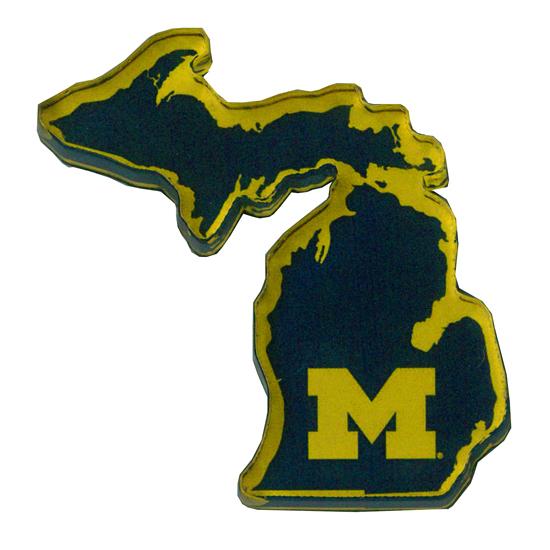 Neil University of Michigan State of Michigan Acrylic Refrigerator Magnet