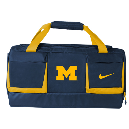 Nike University of Michigan Vapor Duffel Bag