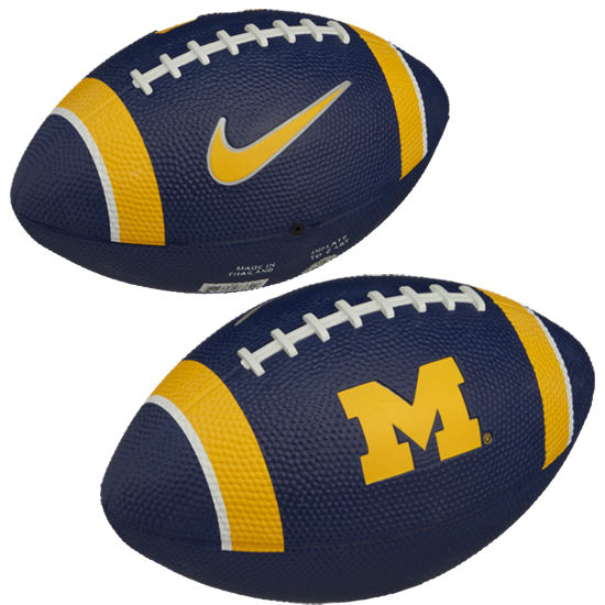 Nike University of Michigan Football Mini Rubber Football
