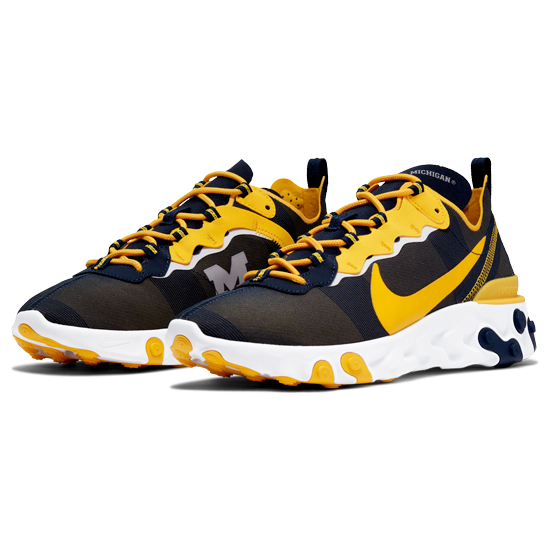 Nike University of Michigan React Element 55 Shoes