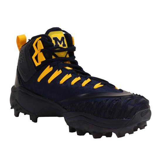 Jordan University of Michigan Football Team Issued Force Savage Pro Shark Cleats