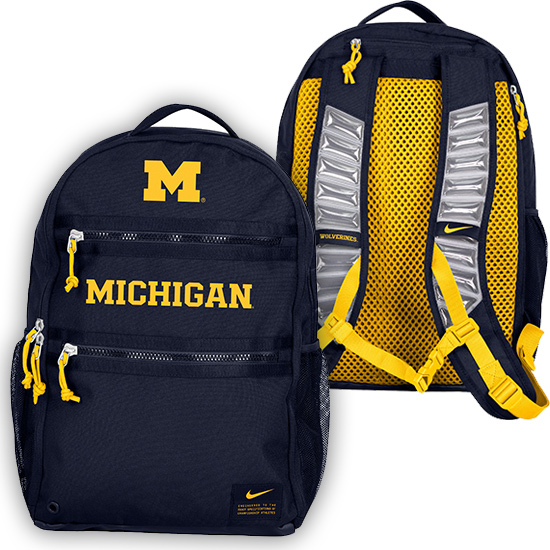 Nike University of Michigan Navy Utility Heat Backpack