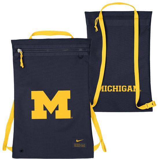 Nike University of Michigan Utility Gym Back Sack