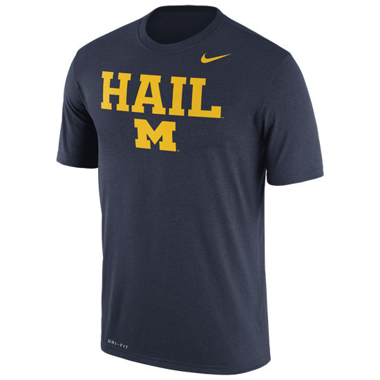 Nike University of MIchigan Navy Dri-FIT Legend HAIL Tee