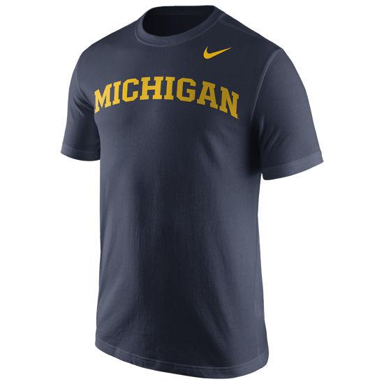 Nike University of Michigan Navy Basic Tee