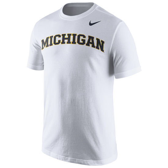 Nike University of Michigan White Basic Tee
