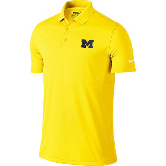 Nike Golf University of Michigan Yellow Victory Polo