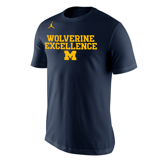 Jordan University of Michigan Navy ''Excellence'' Tee