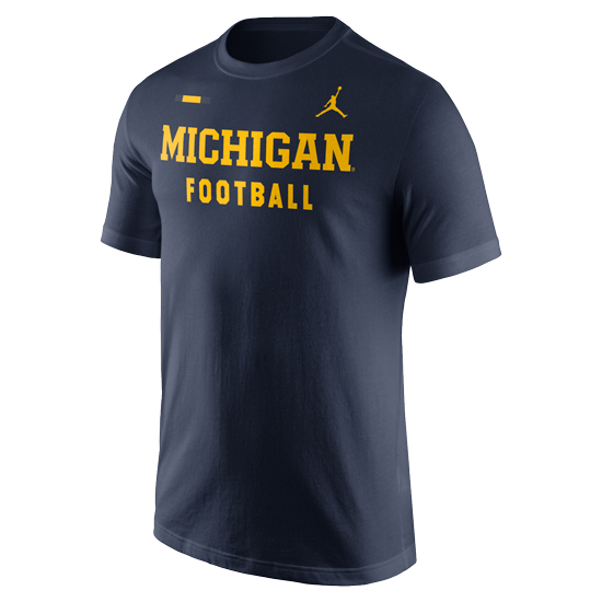 Jordan University of Michigan Football Navy DNA Facility Tee