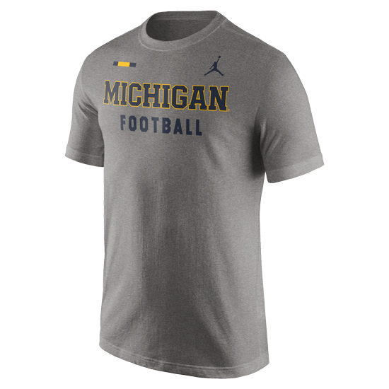 Jordan University of Michigan Football Heather Gray DNA Facility Tee