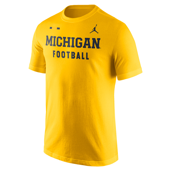 Jordan University of Michigan Football Yellow DNA Facility Tee