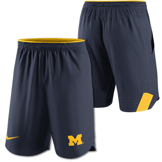 1d7ba459d47 Nike University of Michigan Navy Dri-FIT Vapor Shorts