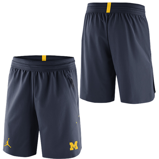 13451b7eb89 Jordan University of Michigan Football Navy 23 Tech Dry Knit Shorts.  Product Thumbnail Product Thumbnail Product Thumbnail