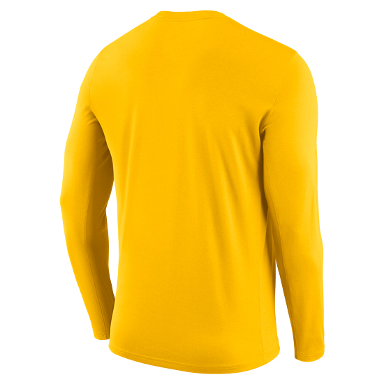 new concept 81e37 2e04e Nike University of Michigan Football Yellow Long Sleeve Dri-FIT Legend  Staff Sideline DNA Tee