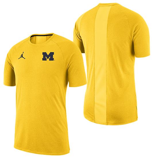 Jordan University of Michigan Football Maize 23 Alpha Dry Tee