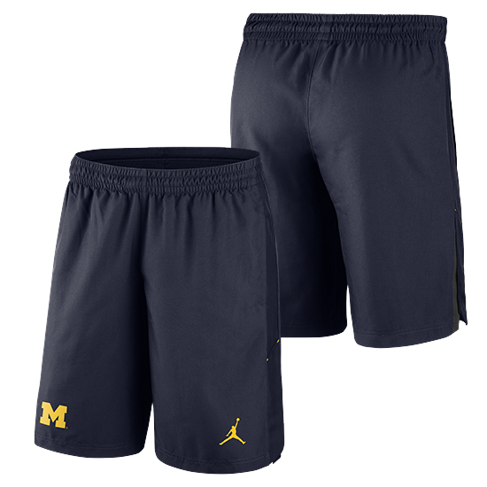 Jordan University of Michigan Football Navy 23 Alpha Dry Shorts