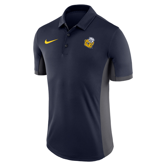 Nike Men's or Unisex Navy College Vault Wolverine Dri-FIT Classic Polo Shirt