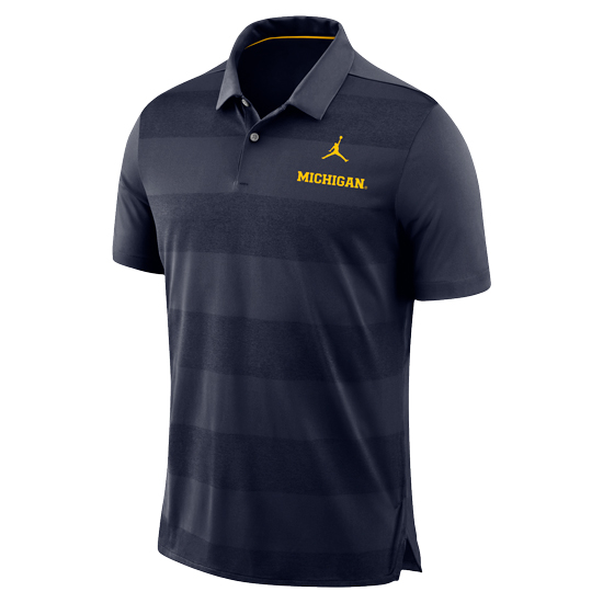 Jordan University of Michigan Football Navy Early Season Dri-FIT Polo Shirt