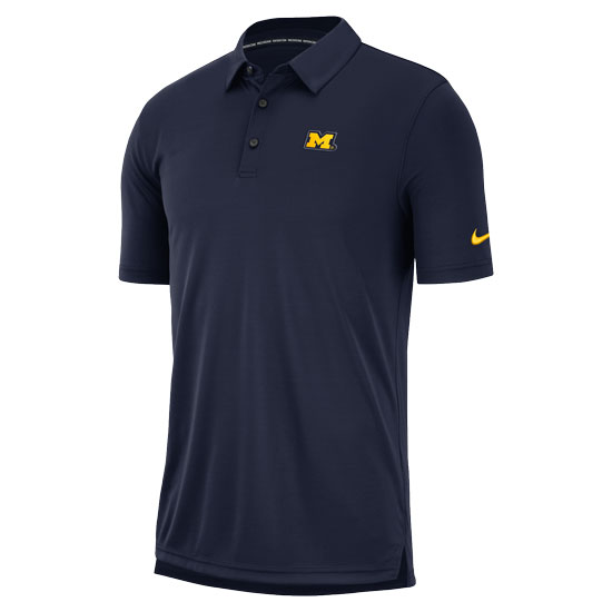 Nike University of Michigan Navy Small Block ''M'' Logo Basic Polo