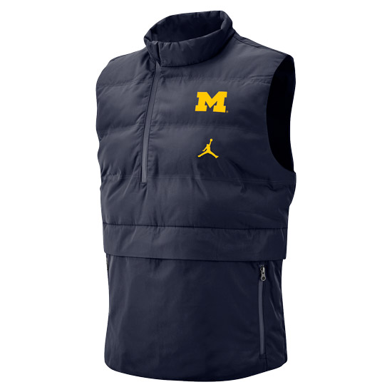 Jordan University of Michigan Football Navy J23 Tech Vest
