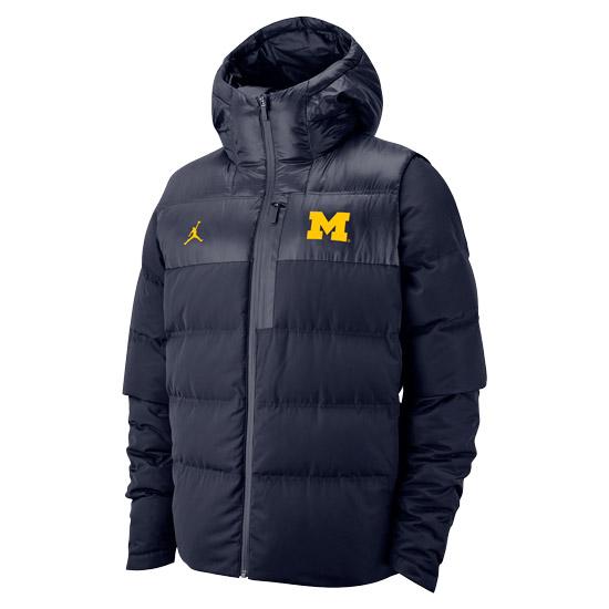 b63a97e64ffc Jordan University of Michigan Football Aeroloft Full Zip Jacket. Product  Thumbnail Product Thumbnail Product Thumbnail