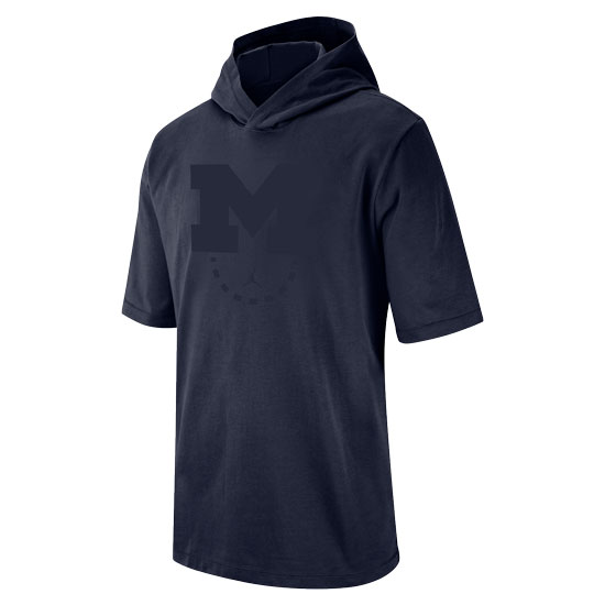 Jordan University of Michigan Basketball Navy Heavyweight Hooded Tee
