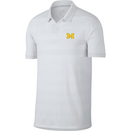 4cc04613 Nike Golf University of Michigan White Zonal Cooling Polo Shirt. Product  Thumbnail Product Thumbnail