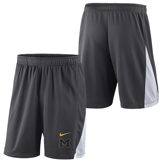 Nike University of Michigan Anthracite Franchise Mesh Shorts