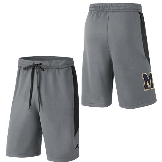 Jordan University of Michigan Basketball Gray Showtime Shorts