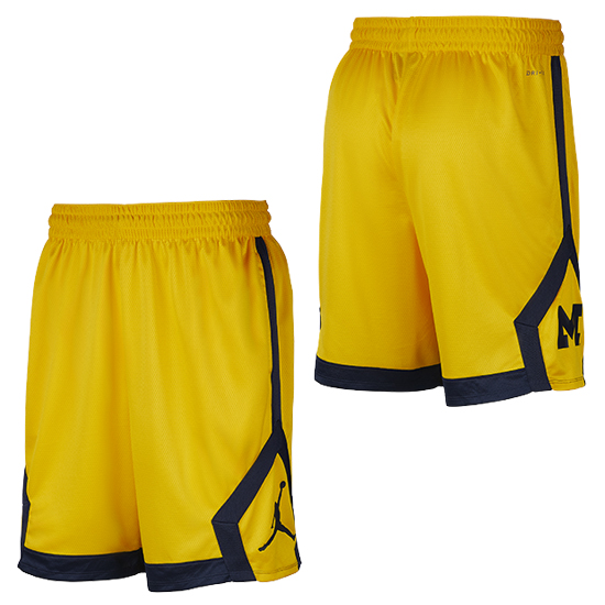 Jordan University of Michigan Football Maize Knit Dri-FIT Shorts