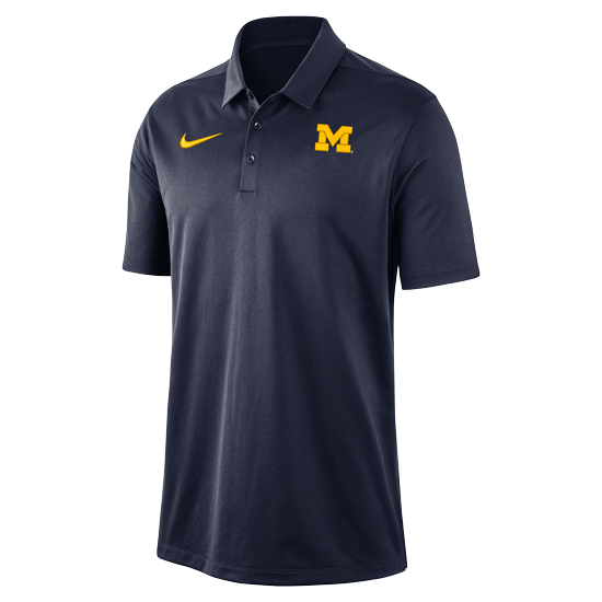 Nike University of Michigan Navy Franchise Dri-FIT Polo