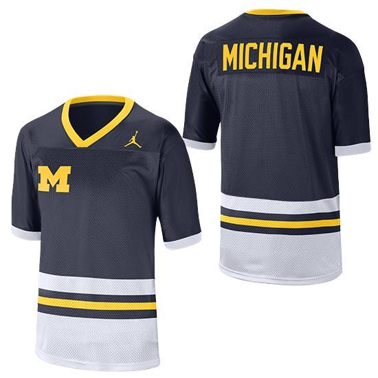 Jordan University of Michigan Football Throwback Jersey