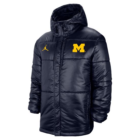 Jordan University of Michigan Navy Performance Heavyweight Jacket