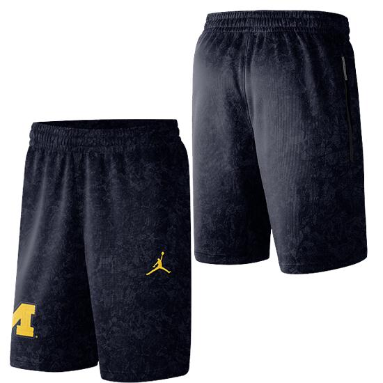 Jordan University of Michigan Basketball Navy Spotlight Warm-Up Shorts