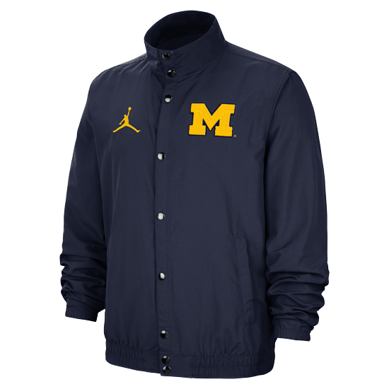 Jordan University of Michigan Basketball Navy DNA Lightweight Jacket
